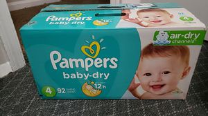 Pampers (baby dry) size 4 for Sale in Waldorf, MD