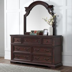 ‼️Brand New‼️ Antique Mahogany Dresser 7 Drawer And Mirror ! Free Set Up And Delivery for Sale in Fountain Valley,  CA