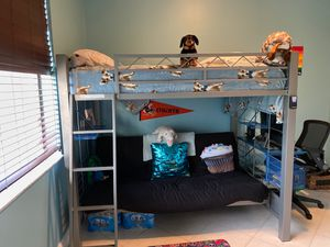 Full size barely used bunk bed with a couch underneath for Sale in Boca Raton, FL