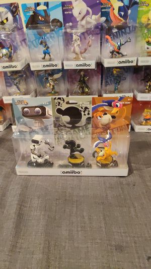 Retro 3 pack ROB, Mr. Game and Watch, Duck Hunt Amiibos for Sale in Manassas, VA