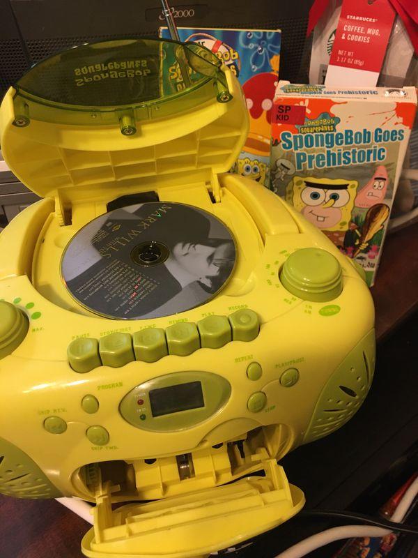 Spongebob Squarepants CD Cassette FM AM Radio!