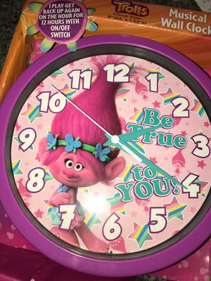 Trolls Musical Wall Clock for Sale in Port St. Lucie, FL
