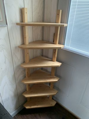 Corner shelves sold oak for Sale in Willow Grove, PA