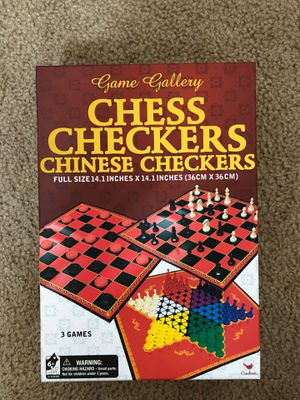 Chess, Checkers, Chinese Checkers for Sale in Stockton, CA