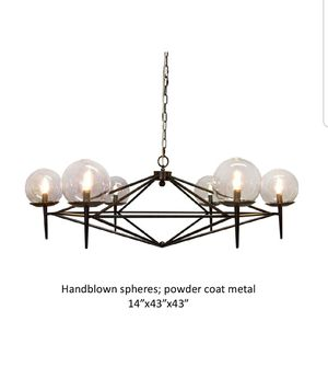 6 light chandelier with 2 hanging pendants for Sale in Seattle, WA
