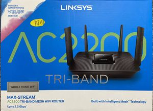 Linksys AC2200 triband mesh router-Like new for Sale in Frisco, TX