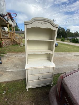 Dresser with bookshelves on top & nightstand for Sale in Covington, GA