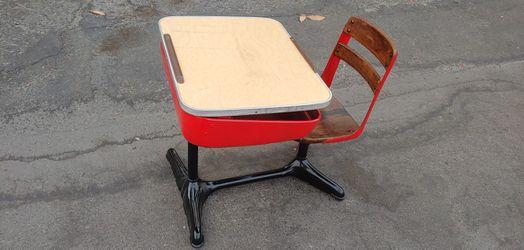 Kids childs childrens adjustable metal school desk for Sale in Clovis,  CA