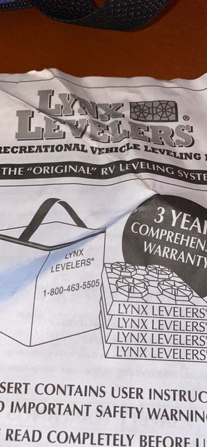 Lynx rv leveling blocks for Sale in Bonney Lake, WA