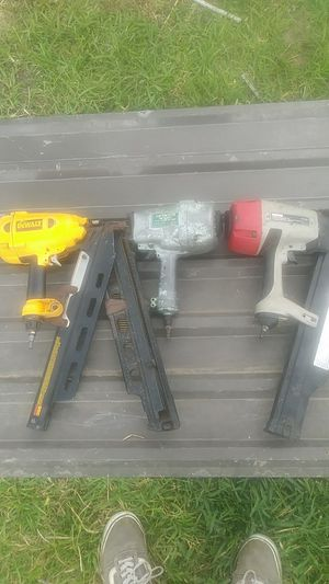 Dewalt, Hitachi, and Craftsmen nail guns for Sale in Barrett, TX