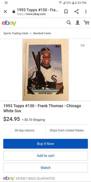 93 Topps Frank Thomas for Sale in Farmington, IL