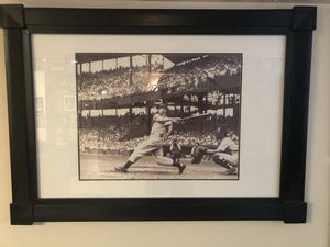 """Joe DiMaggio Framed Vintage Photo 42.5"""" x 30.5"""": Excellent!! for Sale in New Albany, OH"""
