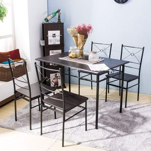 Harper Bright Design 5 pcs Dining Table Set Dining Set Dining Furniture Wood and Metal Home Kitchen for Sale in Houston, TX