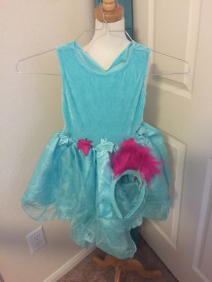 New girls troll costume w headband for Sale in Houston, TX