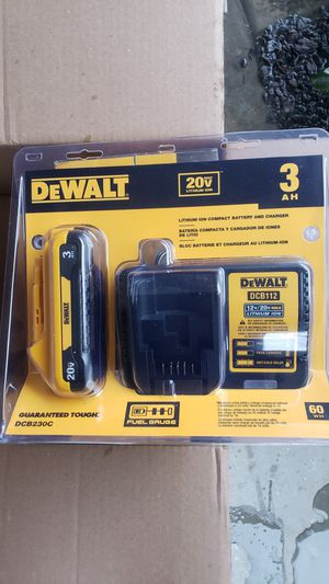 Dewalt 20v charger and battery 3.0 ah brand new for Sale in Long Beach, CA