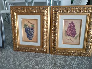 Gold frame pictures for Sale in West Palm Beach, FL