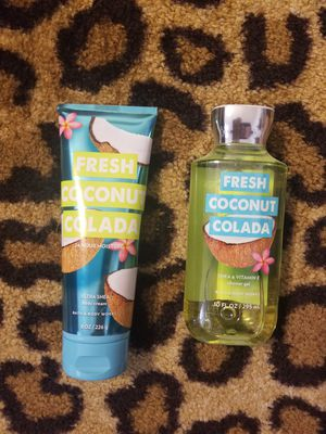 BRAND NEW! Bath and Body Works. 1 Shower Gel & 1 Ultra Shea Body Cream. Fresh Coconut Colada. for Sale in Clovis, CA
