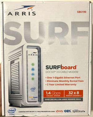 ARRIS SB6190 DOCSIS 3.0 CABLE MODEM UP TO 1.4 Gbps(Sealed Box) for Sale in Hialeah Gardens, FL