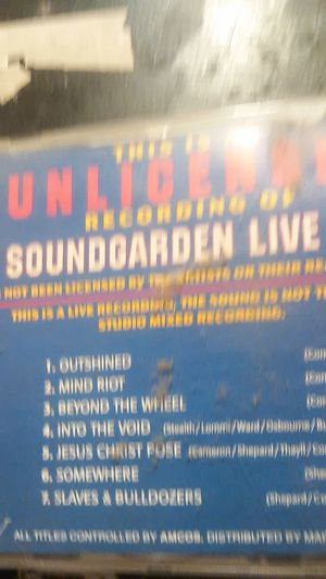 Soundgarden live vol 3 bootleg for Sale in Port Angeles, WA