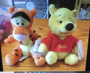 Plush Pooh bear and Tigger dolls for Sale in Everett, WA