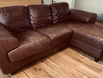 Leather Corner Couch (brown) for Sale in Beverly Hills,  CA