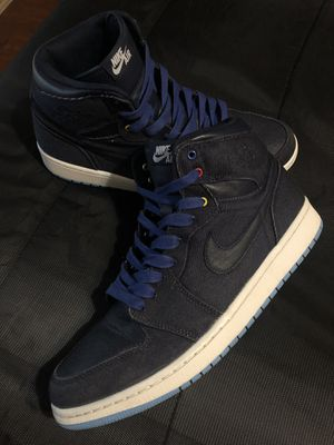 Jordans 1 family forever denim retro for Sale in Houston, TX