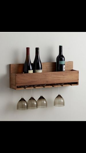 Crate and barrel wine storage and 6 stem holder shelf for Sale in Hillsboro, OR