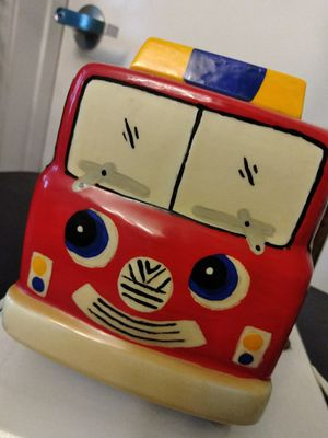 Fire Truck Bedroom Lamp Night Light EUC for Sale in La Verne, CA