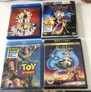 Disney Blue Ray Movies, X 4 , Two Sealed Never Opened, Toy Story for Sale in Auburn, WA