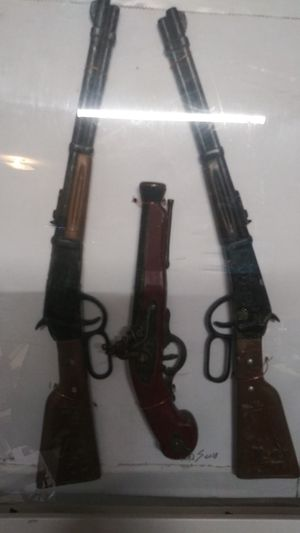 Wild West toy cap guns collectibles they are toys no more than 11 inches long vintage cap guns for Sale in North Charleston, SC