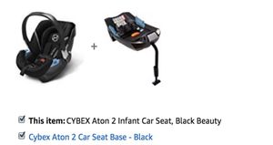 CYBEX Aton 2 Infant Car Seat and Base for Sale in Silver Spring, MD