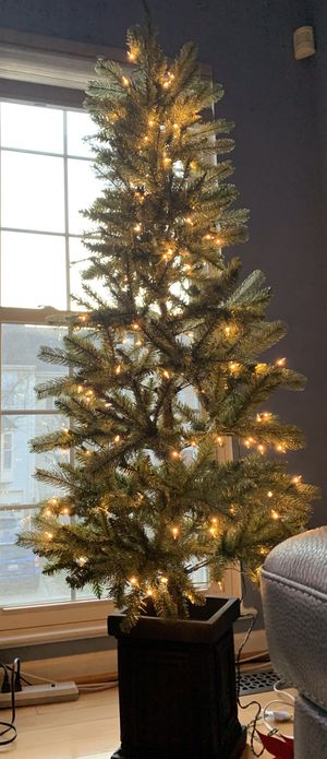 New 6 ft artificial pre lit Christmas tree for Sale in Olney, MD