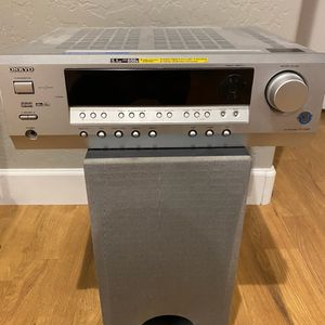 Onkyo Receiver HT-R340 and Subwoofer for Sale in Gilbert, AZ
