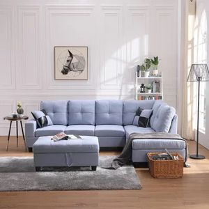 Sectional blue set with Ottoman for Sale in City of Industry, CA