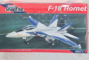 Vintage 1995 Monogram SnapTite F-18 Hornet 1:72 model scale for Sale in Providence, RI