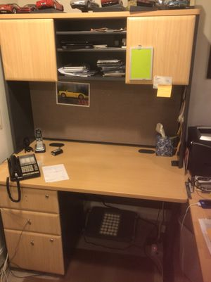 3 pc desk , chair sold separate at $45 for Sale in Rockville, MD