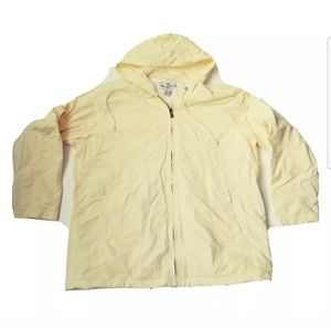 Tommy Bahama Size L Large Unisex Light Yellow Zip Up Hoodie Jacket Windbreaker for Sale in St. Petersburg, FL