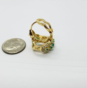 HOOPS EARRINGS BRAZIL 18K GOLD LAYERED for Sale in Roanoke, VA