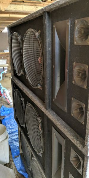 Stage speakers, amplifier and mixer for Sale in El Dorado, KS