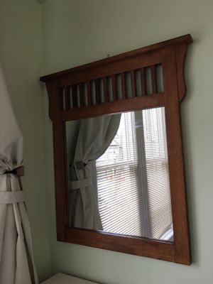 Brown wood wall mirror for Sale in San Francisco, CA