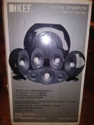 KEF HOME THEATER 3000 Series Surround Sound for Sale in Dallas, TX
