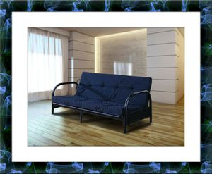Black futon bed with free mattress and delivery for Sale in Gambrills, MD