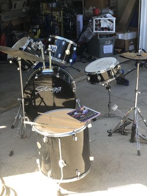 Stagg drum set all included drums music equipment full drum set for Sale in Stockbridge, GA