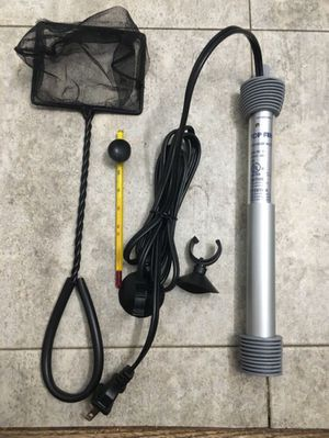 NEW Aquarium 50 W Heater/100 W Heater, Fish Tank Net, Tank Thermometer Kit Supplies - Top Fin for Sale in Arlington, VA
