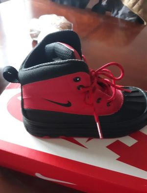 Brand new red and black Nike boots kids size 2 boys or girls for Sale in Chicago, IL