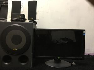 Computer monitor /speakers and sub system for Sale in Las Vegas, NV
