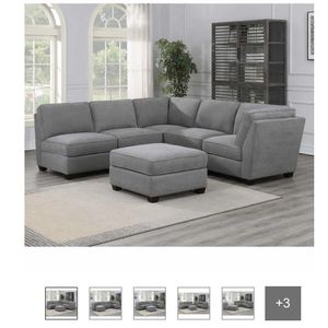 6 Piece Costco Modular Couch Grey Used for Sale in San Diego, CA