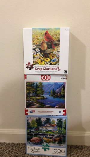 Puzzles, $15 for all, $5 each for Sale in Vancouver, WA