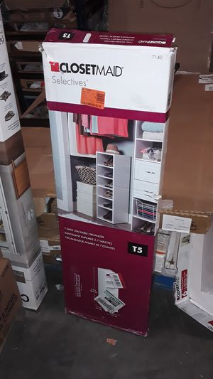 7 Shelf White Stack-able Closet Organizer for Sale in Mableton, GA