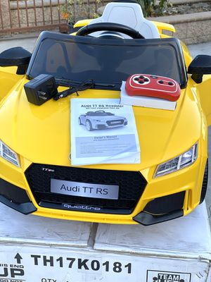 BRAND NEW Audi TT Rs Sport Car 12volt Remote Control Model electric kids ride on cars power wheels for Sale in Anaheim, CA